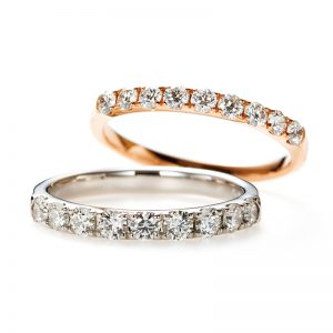 """D Line"" Diamond Harf Eternity Ring"