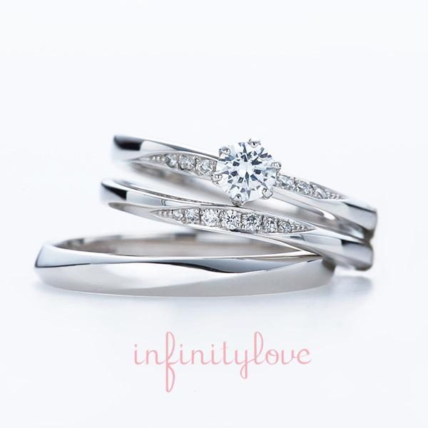 プラチナ 結婚指輪 婚約指輪 ダイヤモンド かわいい おしゃれ マリッジリング エンゲージリング