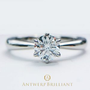 """""""One Hearty Rose"""" Solitaire Diamond Ring"""