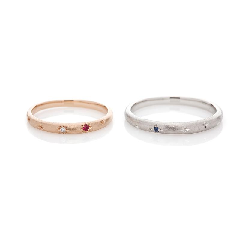 BRIDGE銀座店結婚指輪婚約指輪七夕VegaAltair織姫彦星ブライダルリングプロポーズ