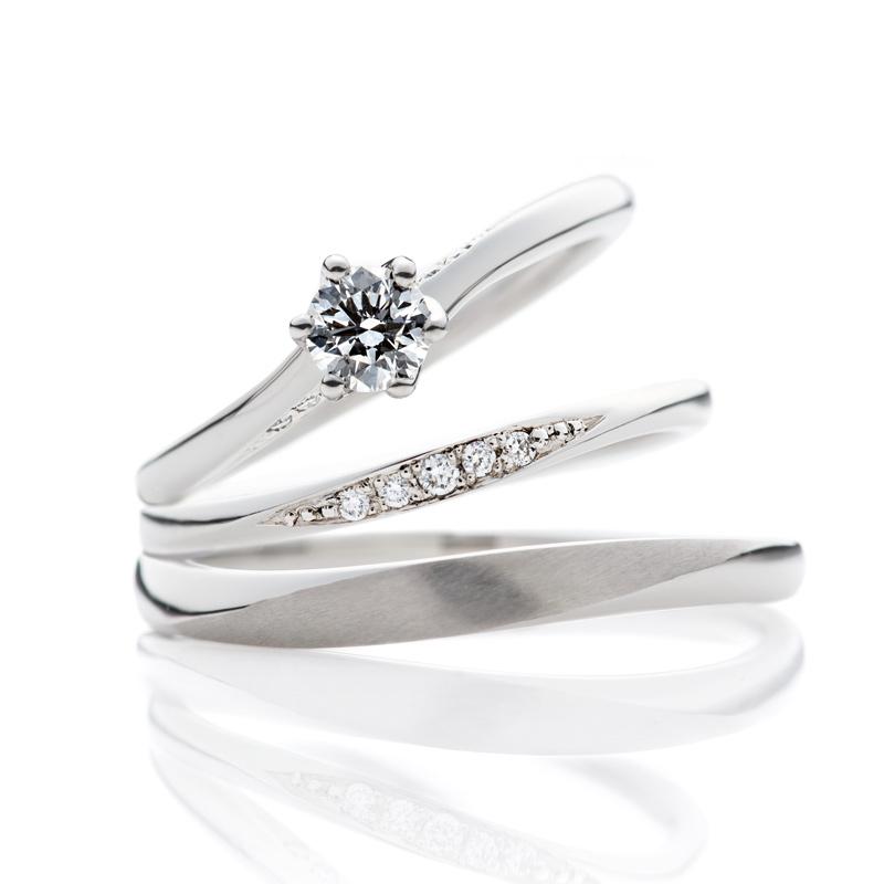 マリッジリング結婚指輪プラチナダイヤモンドエンゲージリング婚約指輪おしゃれ