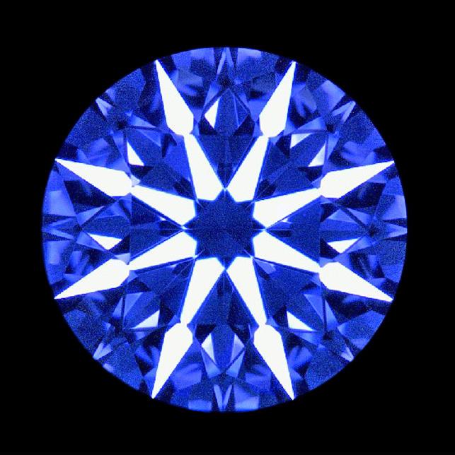 フィリッペンスベルト氏ダイヤモンド研磨アローパターンはトリプル完ぺきな対称性