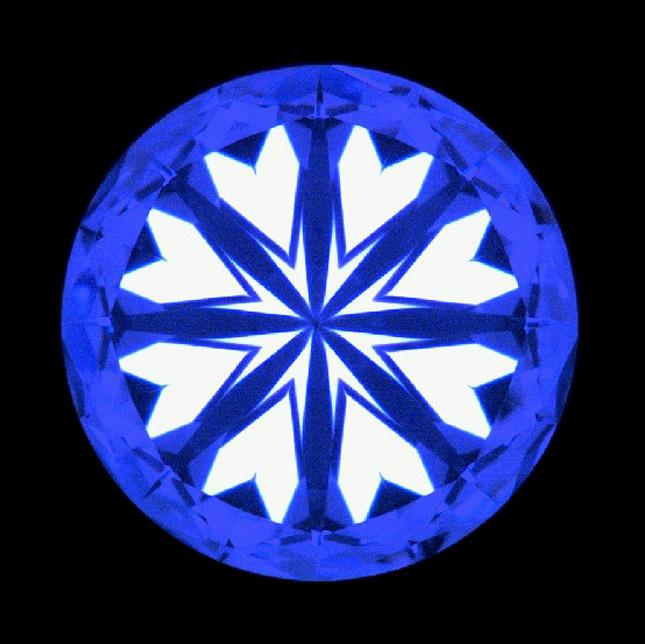 ハートアンドキューピッドパターン2ハートパターン反射映像究極の対称性は恋の天使