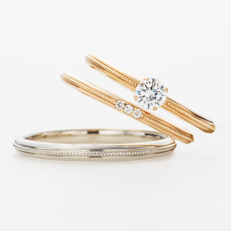 エンゲージリングマリッジリング結婚指輪婚約指輪ダイヤモンド華奢かわいい銀座人気