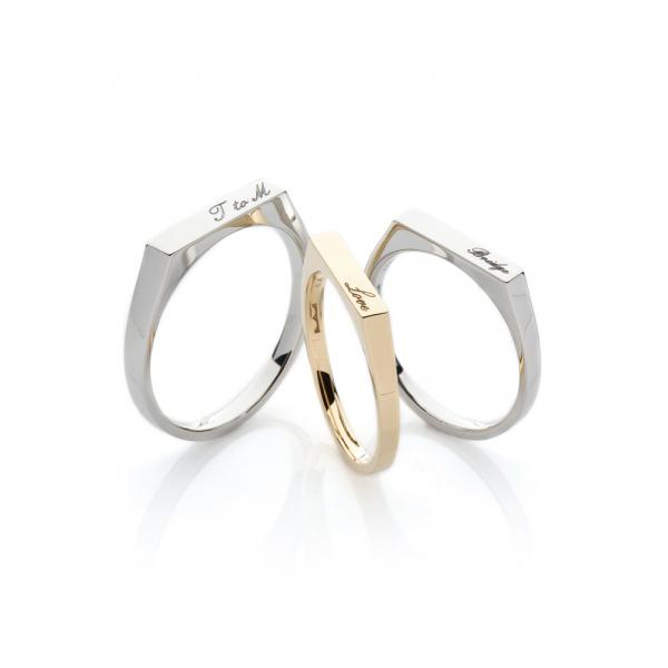 おしゃれ個性的世界に一つオンリーワン結婚指輪マリッジリング