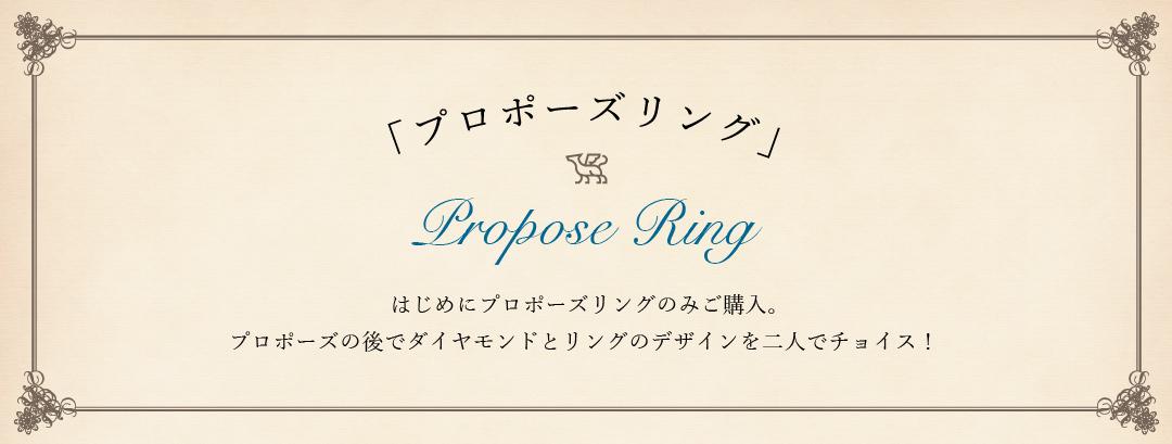 銀座プロポーズ プロポーズの指輪