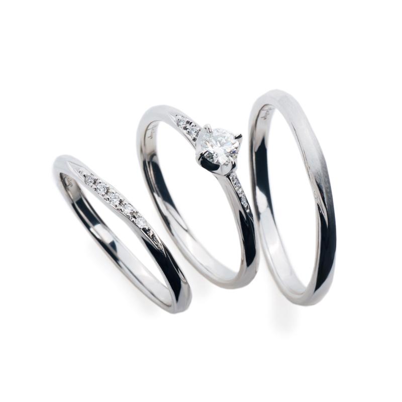プラチナダイヤモンドマリッジリングエンゲージリング結婚指輪婚約指輪