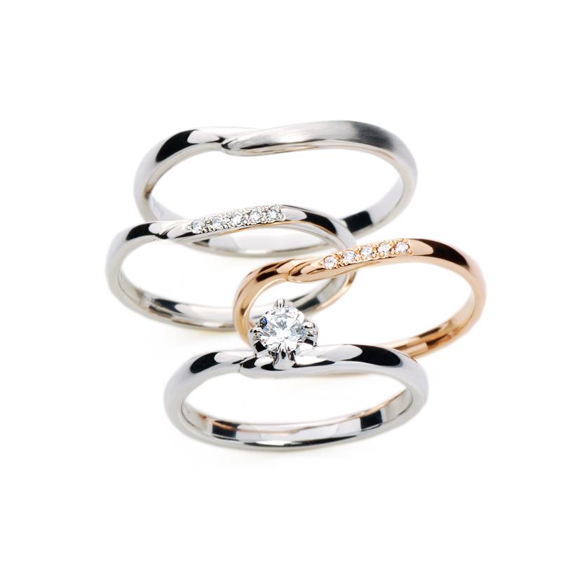BRIDGE銀座店ブライダル結婚指輪婚約指輪インフィニティセットリングプラチナダイヤモンド