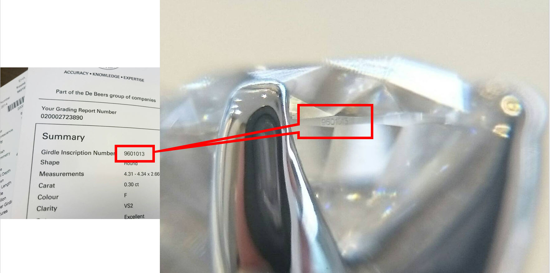 ガードルインスクリプションIIDGRダイヤモンドはデビアスグループ婚約リングにはアントワープブリリアント銀座