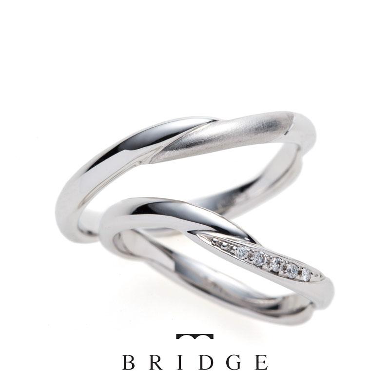 いざないの水神BRIDGE銀座の結婚指輪エタニティスタイル