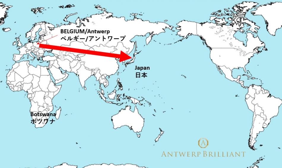 アントワープ発ベルギー研磨のダイヤモンドが人気フィリッペンス・ベルト氏 巨匠カッター 婚約リング銀座