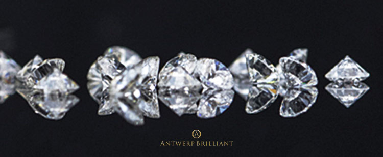 ブリッジ銀座のアントワープブリリアントは輝きに特化したダイヤモンドブランド特別な研磨師フィリッペンスベルトを指名