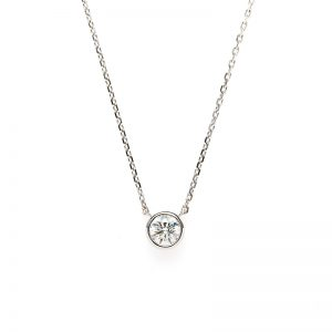 """Artemis"" Double Bezel Setting Daimond Petit Necklace"