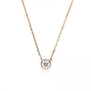 K18ダイヤモンドベゼルセットネックレス