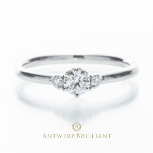 """""""Asterism"""" Three Stone Diamond Ring"""