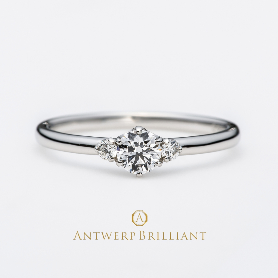 """Asterism"" Three Stone Diamond Ring"