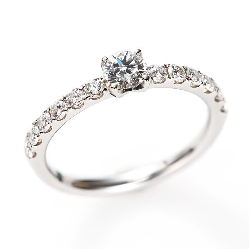 """D Line Star"" Diamond Harf Eternity Ring"