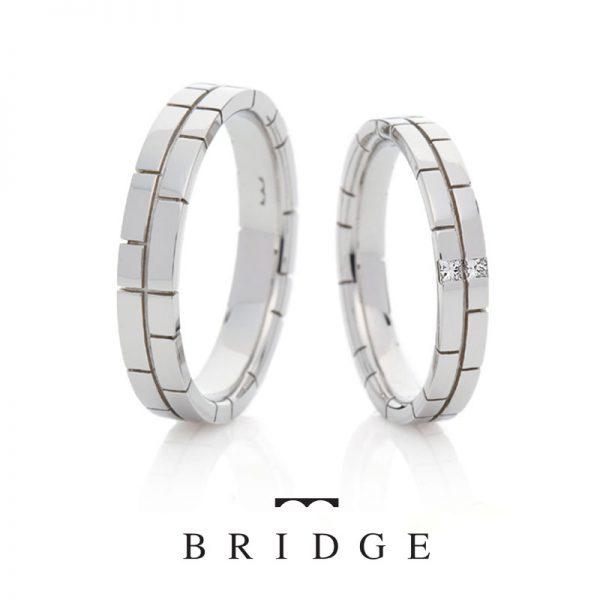 銀座結婚指輪専門店ブリッジでは太めのフォルムが人気の決意はプラチナの太いところが男性にも人気