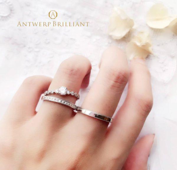 dlineブリッジ銀座の人気結婚指輪アントワープブリリアントはキラキラダイヤモンドがかわいいブランド東京ではここだけの取り扱いオンリーワン
