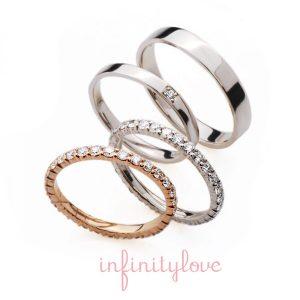 infinityの織エタニティはシンプルストレートの王道スタイル結婚指輪ブリッジ銀座の人気marriageと女性の憧れであるエタニティデザインのengagering
