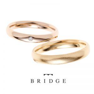 ダイヤモンドが可愛いシンプルなストレートの結婚指輪