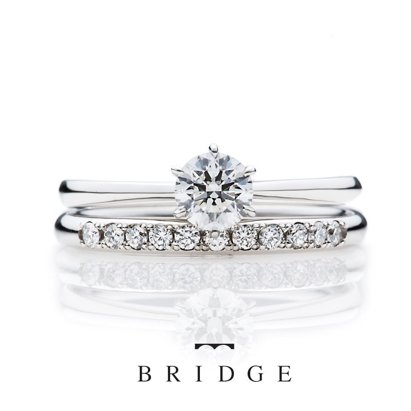 シンプルでエレガント、そして大人可愛い結婚指輪・婚約指輪をお探しの方はコチラです。