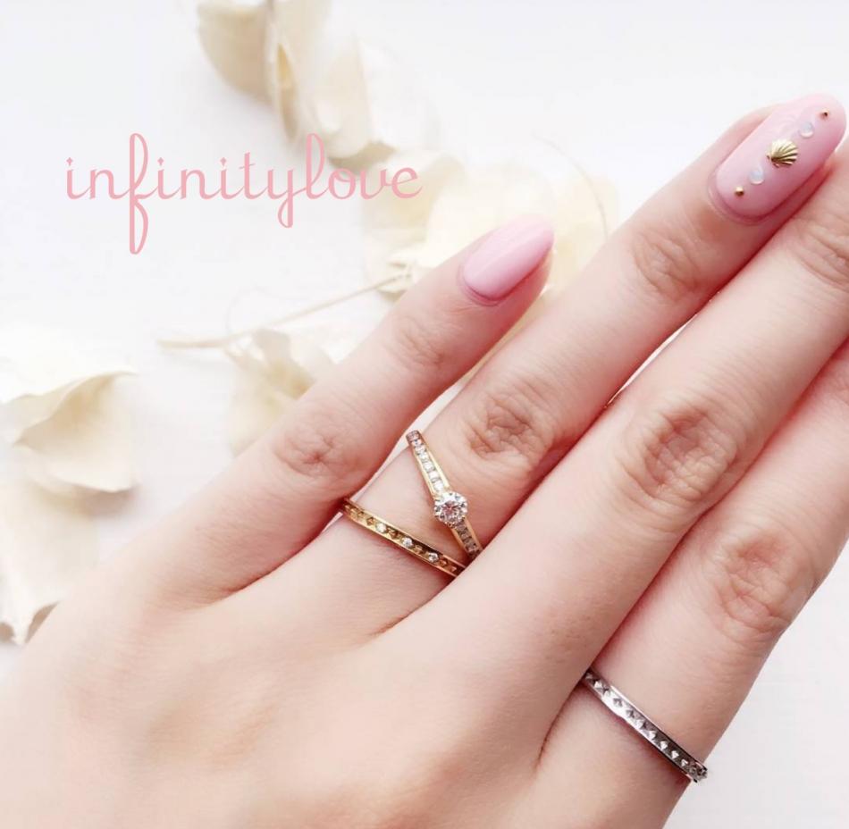 東京 銀座 サプライズ プロポーズ ゴールド 大人可愛い 婚約指輪 結婚指輪