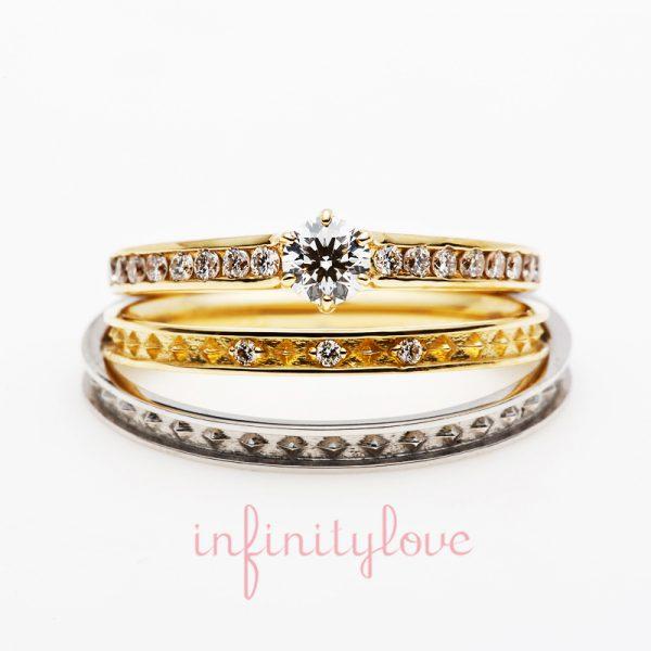 ブリッジ銀座アントワープブリリアントギャラリーで人気のスタッズがかわいい婚約指輪と結婚指輪 ジョイン