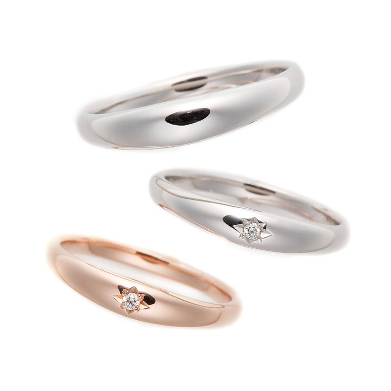 伝統的なデザインに新しいアレンジを加えた情緒あふれるシンプルな結婚指輪