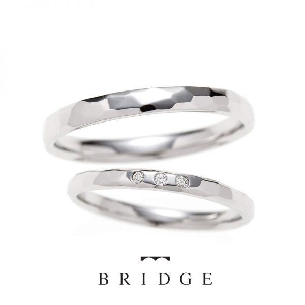 """BRIDGE銀座店で人気、結婚指輪(マリッジリング)、婚約指輪(エンゲージリング)からシンプルでキラキラ、人とは違う職人の手づくりが作り出す美しいデザイン """" PERFECT REFLECTION~幸せな偶然~"""""""