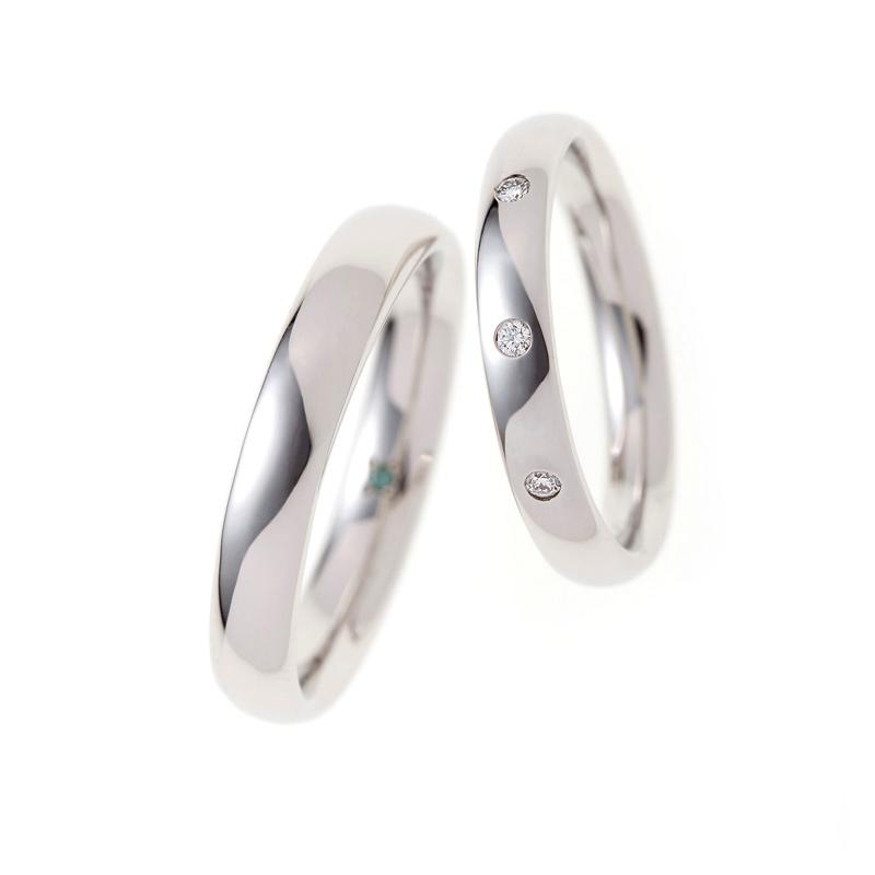 平甲丸仕上でつけ心地の良い結婚指輪