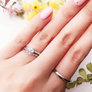 変質・変色しないプラチナ素材の婚約指輪と結婚指輪