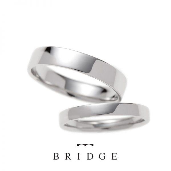 幅広好きなお二人にオススメのシンプルな平打ちデザインの結婚指輪
