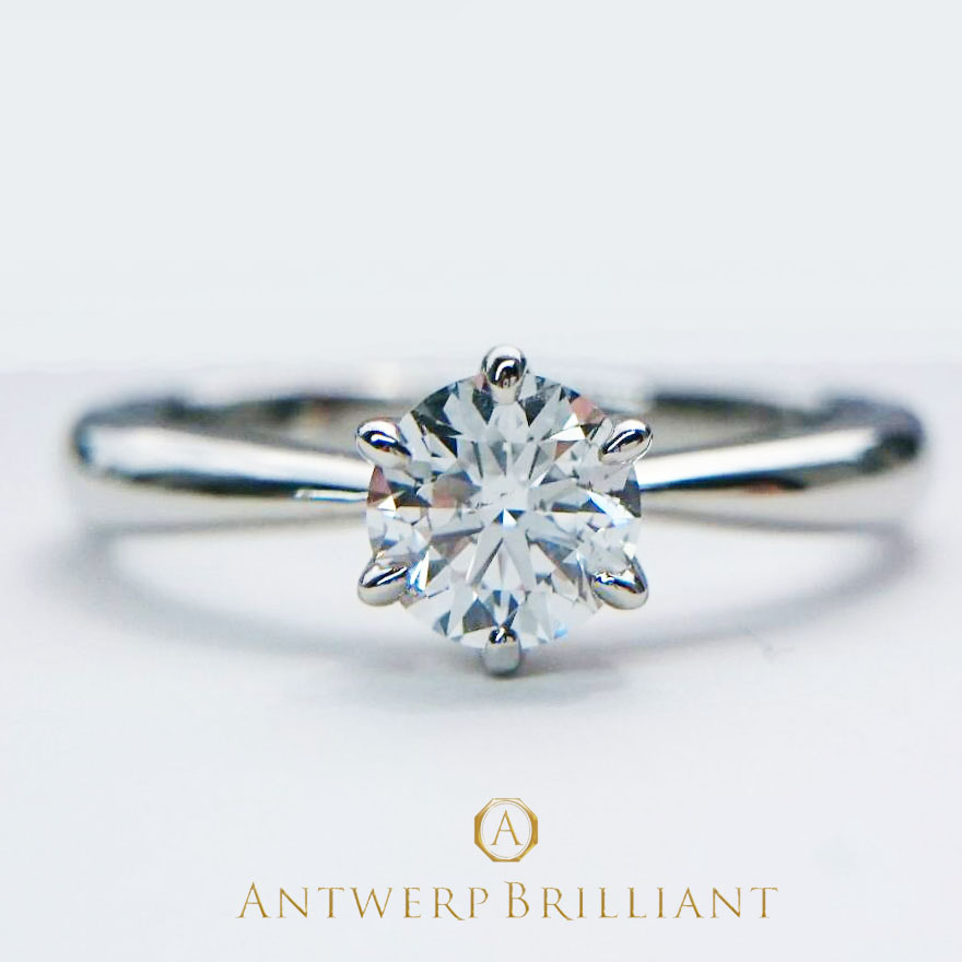 銀座結婚指 サプライズプロポーズ 花嫁に人気のソリテール王道一石タイプ アントワープ