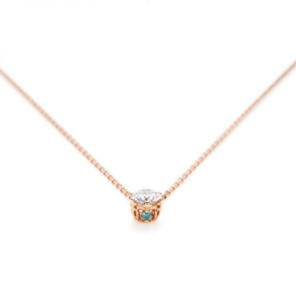 """Princess Marie"" 6 Claws Collet Daimond Petit Necklace"