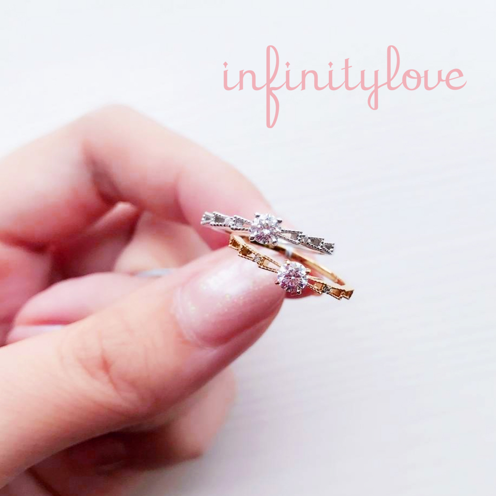 銀座で見つけるゴールドでリボンモチーフの可愛い婚約指輪と結婚指輪