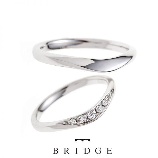 RoseDewライオンの橋BRIDGE銀座ブリッジ結婚指輪マリッジリング指長効果
