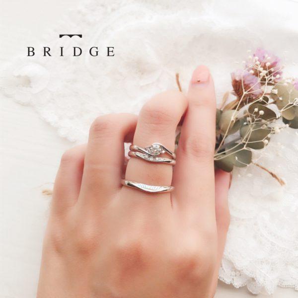 薔薇の花がモチーフのピンクダイヤが可愛いシンプルな婚約指輪ならブリッジ銀座へ