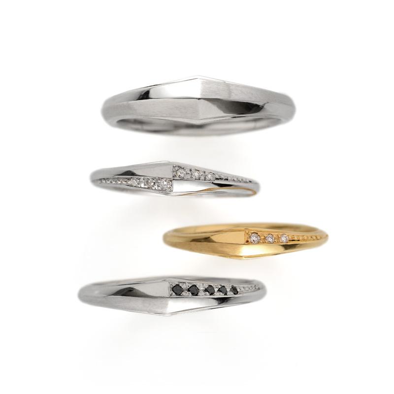 ブラックダイヤモンドがカッコイイ結婚指輪です。
