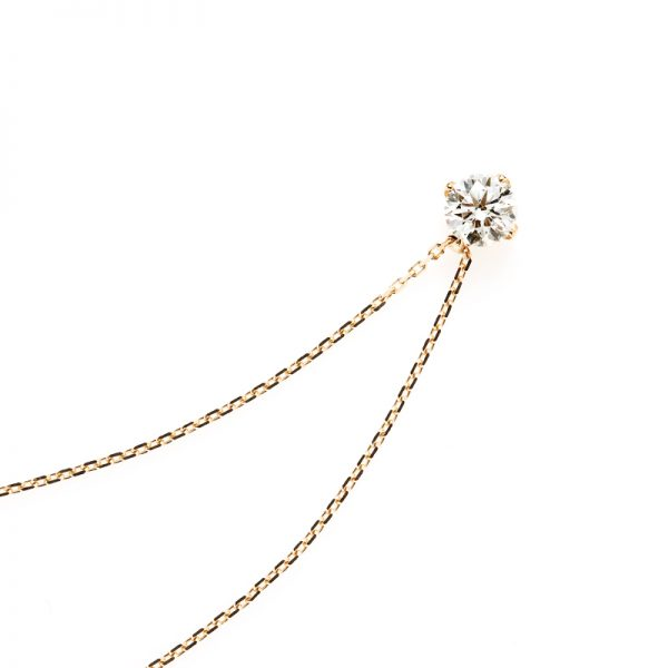 """""""Sirius"""" 4 Claws Collet Daimond Petit Necklace"""