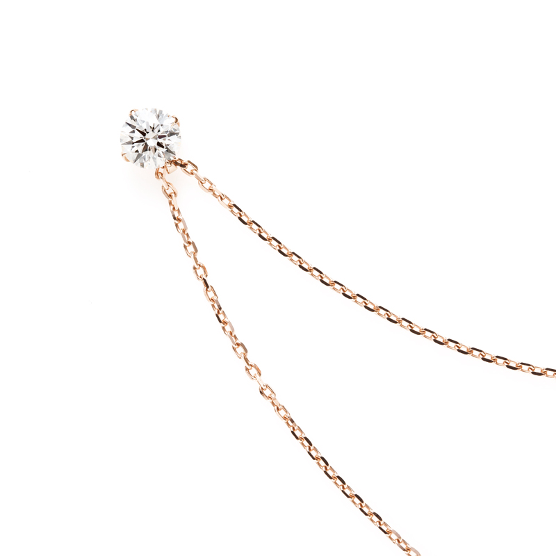 美しく輝くダイヤモンドのプチネックレス