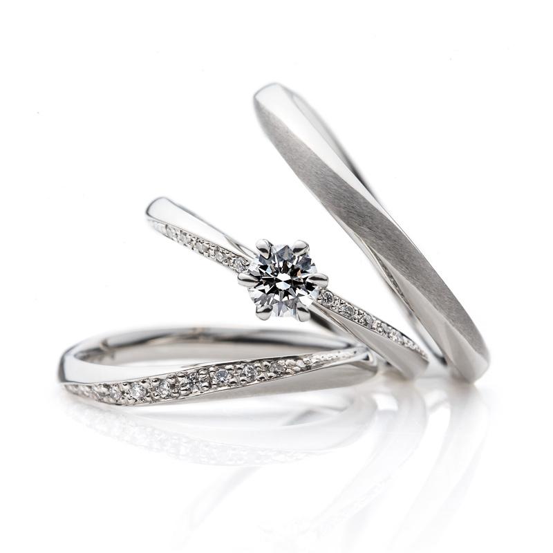 BRIDEGやわらかな春風セット画像銀座の結婚指輪