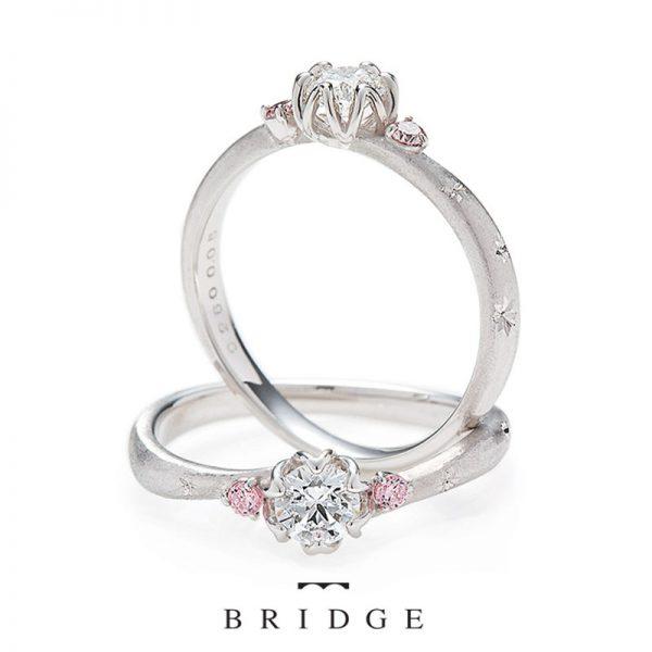 花モチーフの可愛い婚約指輪がこの春銀座で人気です
