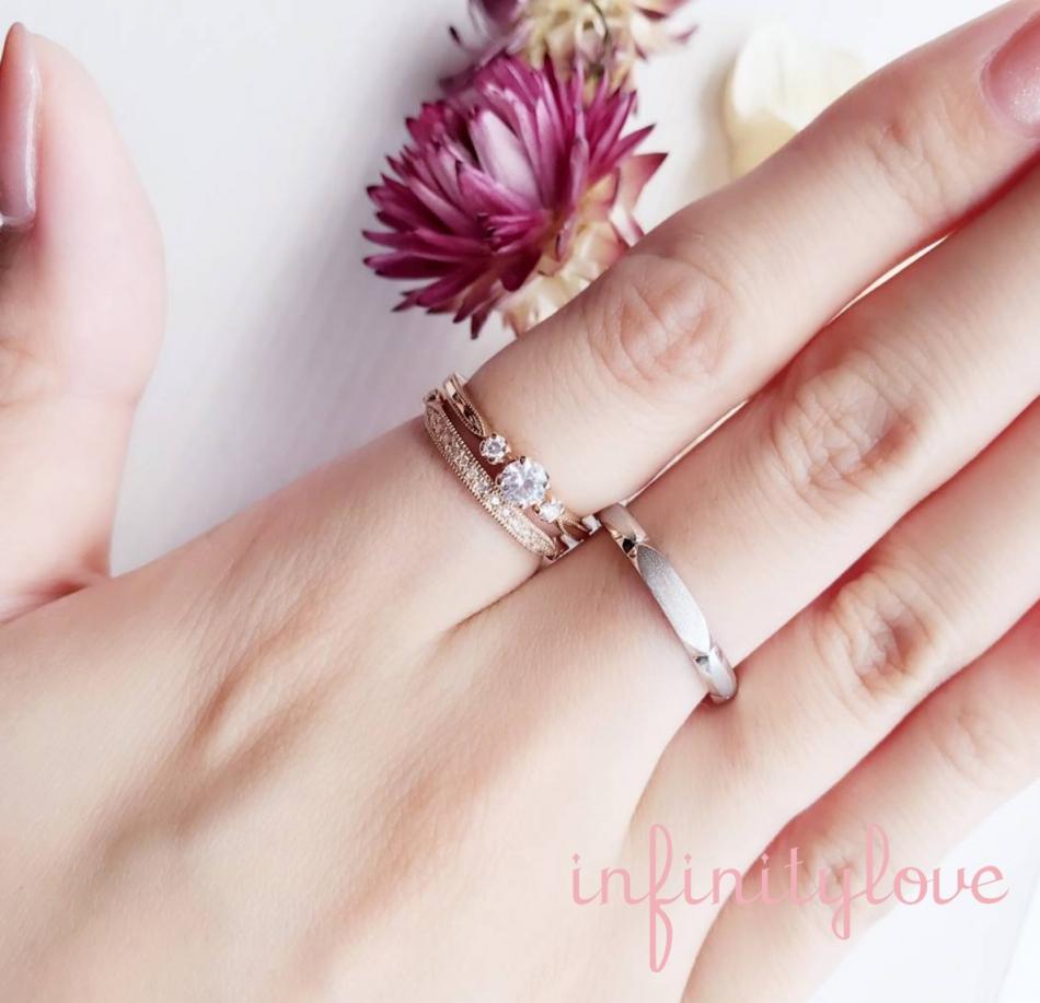 ゴールドが引き立つ可愛くてオシャレな結婚指輪、婚約指輪♪ブライダルリングの専門店ブリッジ銀座で見つける女性らしさが光るデザインリング♡
