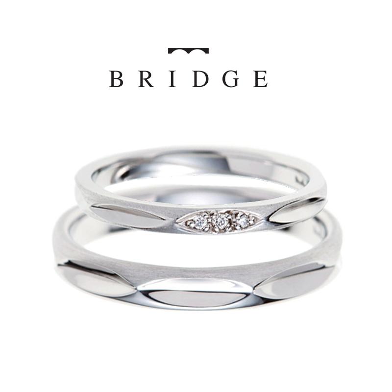 さり気ないダイヤモンドが可愛い、シンプルでやさしい着け心地の結婚指輪ならBRIDGE銀座