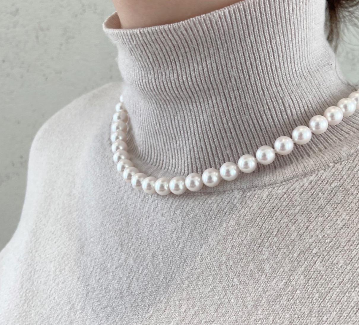 花珠あこや真珠ネックレス7.5-8.0㎜でAランクです