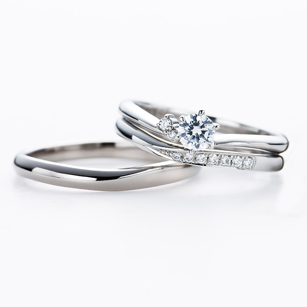 インフィニティラブMoon結婚指輪セットリング BRIDGE銀座 エンゲージマリッジ重ねつけ