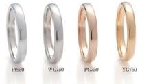 貴金属の色プラチナ18金 イエローゴールド ホワイトゴールド ピンクゴールドBRIDGE銀座の取り扱い