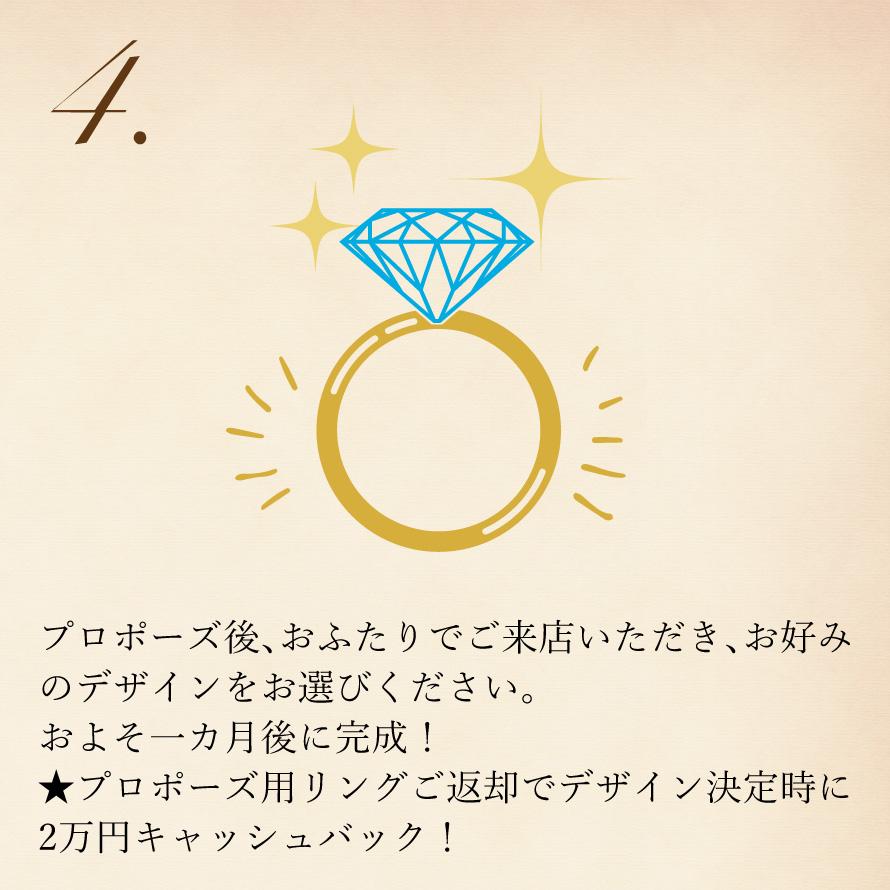 プロポーズ後、お好みのデザインで
