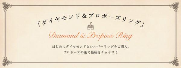 """ブリッジ銀座のプロポーズプラン""""ダイヤモンド&プロポーズリング"""""""